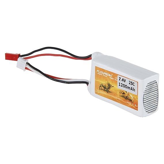 2x FLOUREON 2S 1200mAh 7.4V 25C Li-Po Batterie Akku JST Für RC Auto RC Fahrzeug