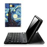 Fintie Samsung Galaxy Tab E 8.0 Keyboard Case - Slim Light Weight Standing Smart Cover with Magnetically Detachable Wireless Bluetooth Keyboard for Tab E 8.0 Inch SM-T377 4G LTE Tablet, Starry Night