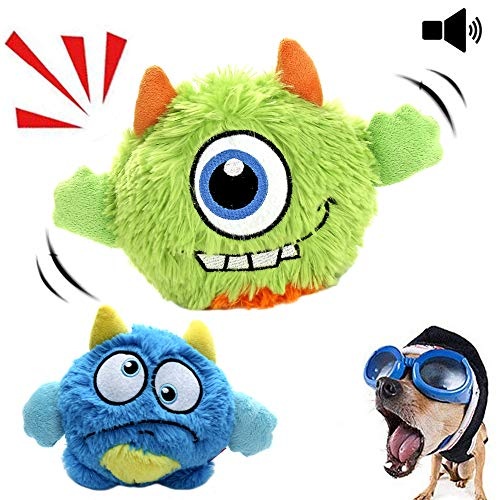 (NEILDEN Interactive Dog Toys,Plush Squeaky Giggle Ball,Automatic Electronic Shake Dog Toy,Entertainment Suitable for Small to Medium Dogs - Best Christmas Birthday Gift for Puppy)
