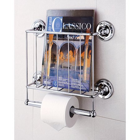 by Organize It All Wall Mount Magazine Rack - Made as a Magazine Holder with Bath Tissue Dispenser