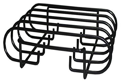 Porcelain Enamel Sturdy Steel Rib Rack For Weber, Charbroil, Kenmore, Master Forge,Brinkmann, Green Egg, Primo and Kamado Ceramic Grills (Dims:10