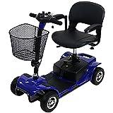 電動シニアカート 青 シルバーカー 車椅子 電動ミニカー 折りたたみ 折り畳み 軽量 コンパクト 電動カート 電動 シニア カート 充電 バッテリー 介護 介助用 自走 自走式 歩行補助 電動車椅子 電動車いす ブルー scooterd07blue