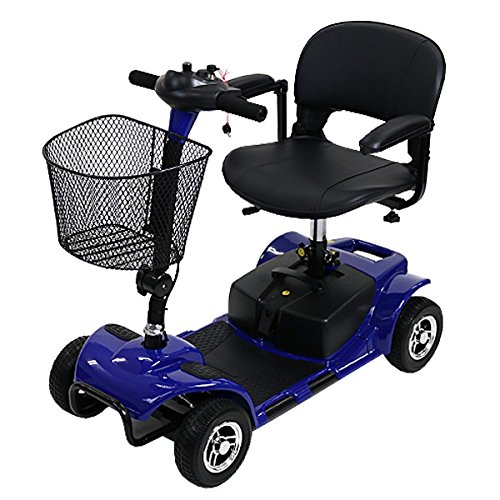 電動シニアカート 青 シルバーカー 車椅子 電動ミニカー 折りたたみ 折り畳み 軽量 コンパクト 電動カート 電動 シニア カート 充電 バッテリー 介護 介助用 自走 自走式 歩行補助 電動車椅子 電動車いす ブルー scooterd07blue B076KB12JD