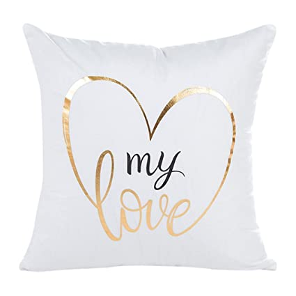 Buy Sunward Women s Home Decor Unique Letters Pattern Sofa Throw Pillow  Case Cushion Cover 18 X 18 Inch Large B Online at Low Prices in India -  Amazon.in 48e0de71f