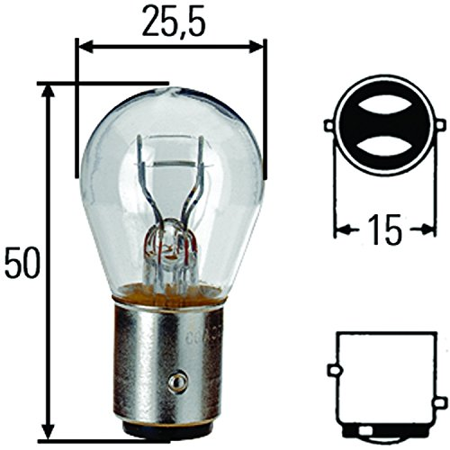 HELLA H83055011 S8 Series 21/5 Watt 24 V P21/5W Type Incandescent Bulb