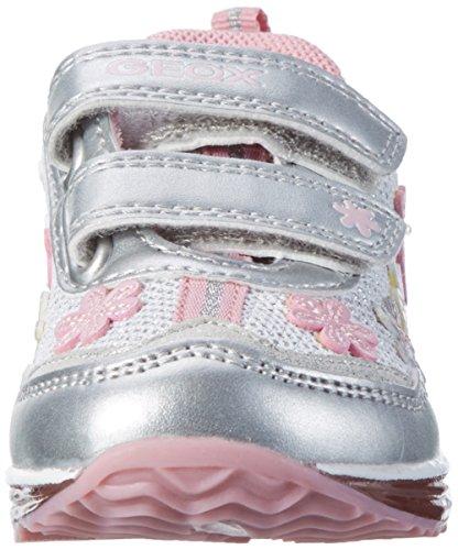 Geox B TODO GIRL A - zapatillas de running de material sintético Bebé-Niños Blanco (White/silverc0007)