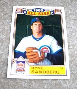 1989 Topps Ryne Sandberg MLB Baseball All Star Card