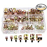 150PCS Spring Band Type Elastic Fuel Silicone Vacuum Hose Pipe Tube Clamps(6mm 7mm 10mm 11mm 14mm 16mm 17mm)