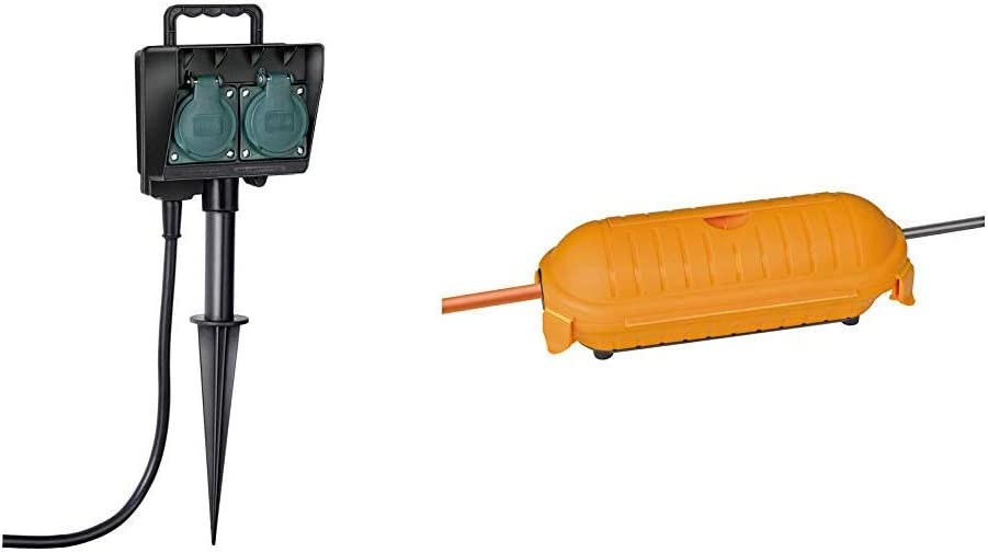 Brennenstuhl Gartensteckdose Außensteckdose 2 Fach Mit Erdspieß Witterungsbeständiger Kunststoff Safe Box Big Ip44 Schutzbox Für Verlängerungskabel Baumarkt
