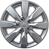 toyota corolla rims 16 - Hubcap for Toyota Corolla (Single Piece) Wheel Cover - 16 Inch Silver Replacement