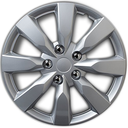 Hubcap for Toyota Corolla (Single Piece) Wheel Cover - 16 Inch Silver Replacement