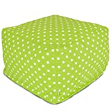 Majestic Home Goods Lime Small Polka Dot Ottoman, Large Review