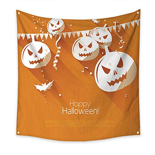 Anniutwo Tapestry Dorm Halloween Greeting Card Beach Throw Tapestry 70W x 70L -