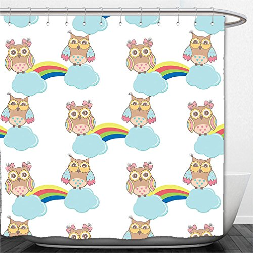 interestlee-shower-curtain-owls-pattern-owls-on-clouds-with-rainbows-sky-after-rain-flying-birds-toy