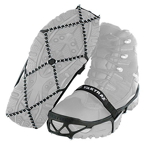 Yaktrax Pro Traction Cleats for Walking, Jogging, or Hiking on Snow and Ice, Large