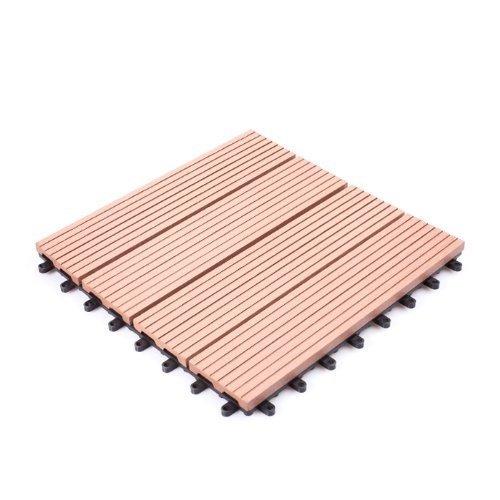 人工木 ウッドパネル タイプB 27枚セット ブラウン B010SVHLNY 12996