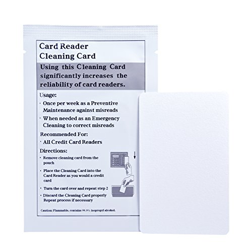 Keycard Lock Cleaning Card, for Hotel & Motel use - Case of (50 Cleaning Cards)
