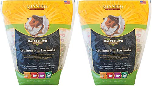 Sunseed 2 Pack of Vita Prima Sunscription Guinea Pig Formula, 4 Pounds Per ()