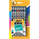 BIC Pencil Xtra Precision (Metallic Barrels), Fine Point (0.5 mm), 24-Count