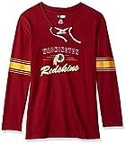 NFL Team Apparel NFL womens Redskins L/S Jersey V Neck Tee