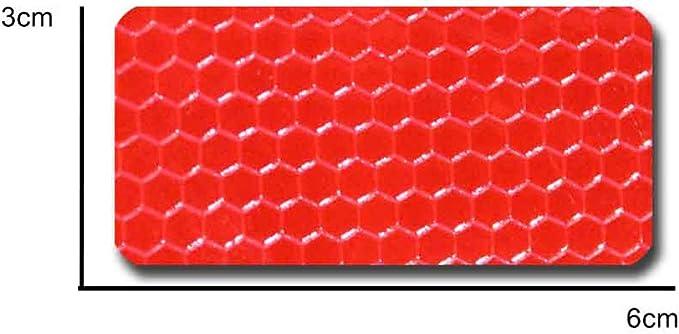 Maiqiken 10pcs Reflektor Streifen Gelb Selbstklebende Für Auto Lkw Anhänger Sicherheit Warnung Reflektorband Tape Aufkleber 60 X 30mm Auto