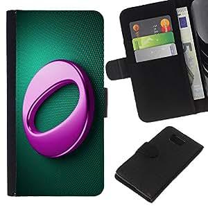 EJOY---La carpeta del tirón la caja de cuero de alta calidad de la PU Caso protector / Samsung ALPHA G850 / --Pink O
