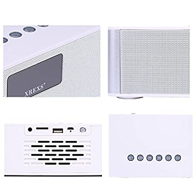 XREXS ® Wireless Speakers with 3D LED Display and Super Stereo Portable Bluetooth Speakers for All Phones and Tablet Iphone Samsung Nexus Laptops Computers Mp3 Player(white-21)