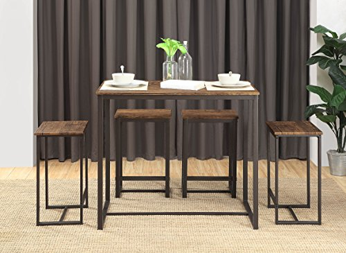 Abington Lane Kitchen Table Set - Versatile, Tall, Modern Table Set for Any Room or Occasion (4 Stools) by Abington Lane (Image #1)