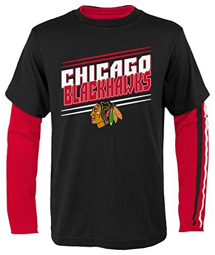 Chicago Blackhawks Long Sleeve Shirt - OuterStuff NHL Chicago Blackhawks Youth Boys