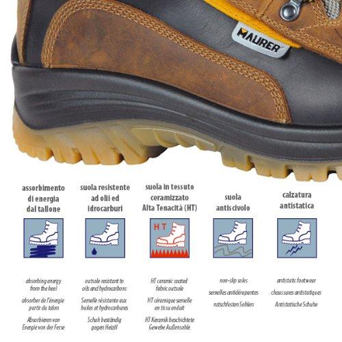 chaussure en nubuck tissu impermeable prevention daccidents eleve num.39