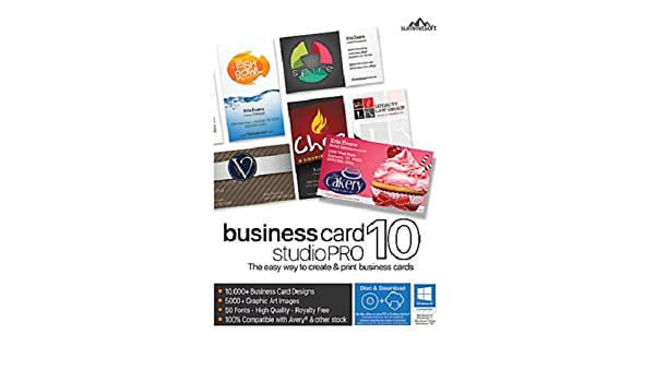 Amazon business card studio pro 10 reheart Choice Image
