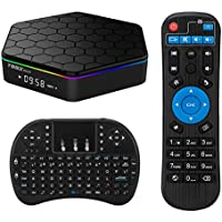 T95Z Plus Android TV Box Android 6.0 Marshmallow Amlogic S912 2GB DDR3 16GB EMMC Octa Core 4K 2.4G/5G Dual Band Wifi Bluetooth TV Box with Mini Wireless Keyboard Touchpad
