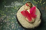 Fairy Glitter Butterfly Wings, Newborn, Baby, Photography prop - Color: RED