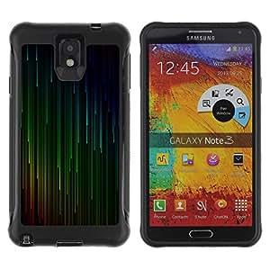 Hypernova Defender Series TPU protection Cas Case Coque pour SAMSUNG Galaxy Note 3 III / N9000 / N9005 [Vert Rouge Cyan Falling Stars]