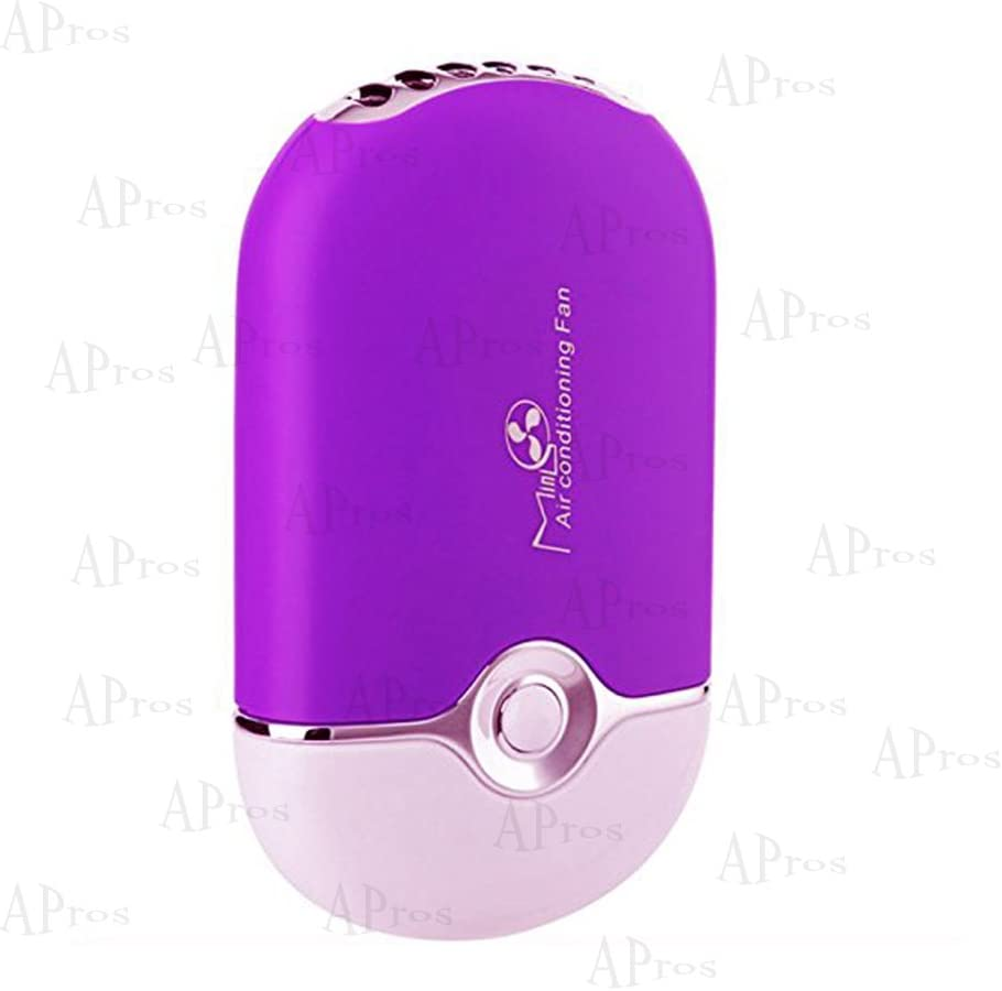 APros USB Mini Portable Fans Rechargeable Air Conditioning Cooling Refrigeration Fan For Eyelash (Purple)