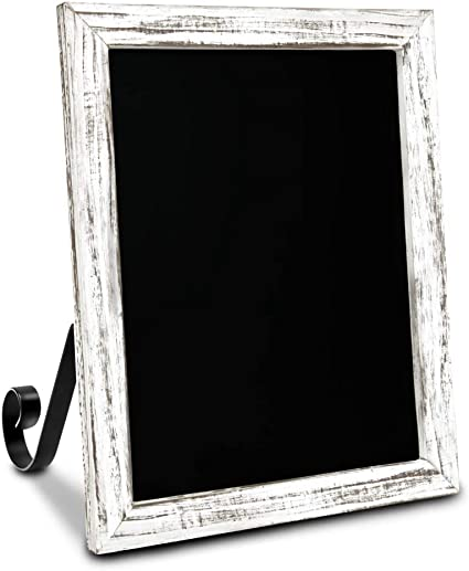 """TenXVI Designs 11x13"""" Magnetic Chalkboard Sign - Remove Legs to Vertically or Horizontally Hang or Stand - Perfect for Kitchen Countertop, Tabletops, Weddings, Home Decor - White"""