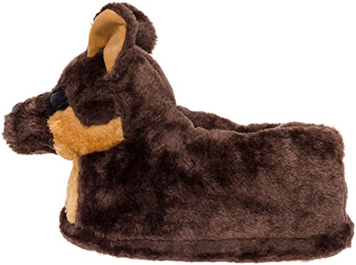 Silver Lilly German Shepherd Slippers - Plush Dog Slippers w/Platform by (Brown/Tan/Black, Medium) by Silver Lilly (Image #2)