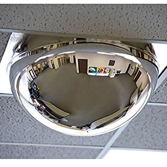 """Relius Solutions Drop-In Panoramic Dome Mirror - For Use With 24X24"""" Ceiling Tiles"""