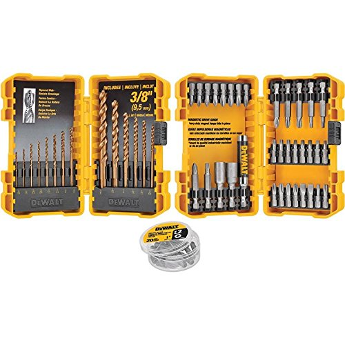 Dewalt 68-piece Combination Impact Screwdriver Bit and Drill Set (Dewalt Driver And Drill)