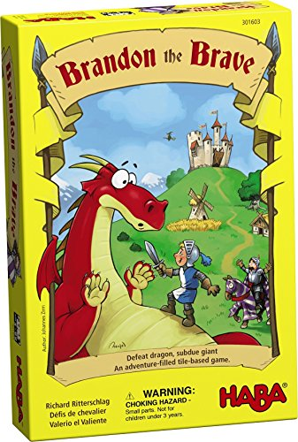HABA Brandon The Brave - an Adventure Filled Tile Based Game for Ages 5 and up