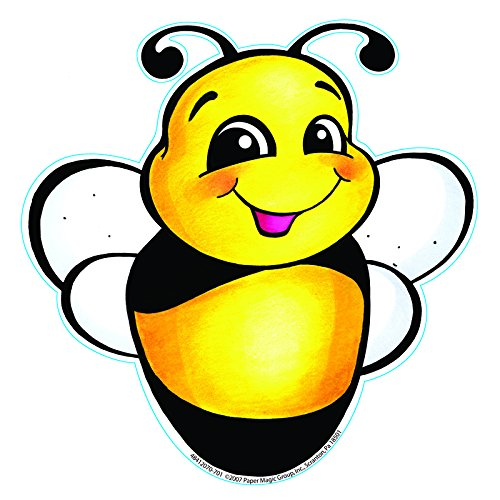 Eureka 5-Inch Paper Cut-Outs, Bee, Package of 36 (841207) ()