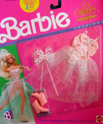 Barbie Ice Capades 50th Anniversary Fashions - Out-Dated Pink Stamps MISSING (1989 Mattel - Missing Stamp