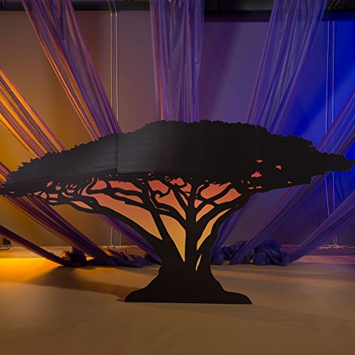 6 ft. Wild Jungle Safari Dreams Small Tree Silhouette Standup Photo Booth Prop Background Backdrop Party Decoration Decor Scene Setter Cardboard Cutout