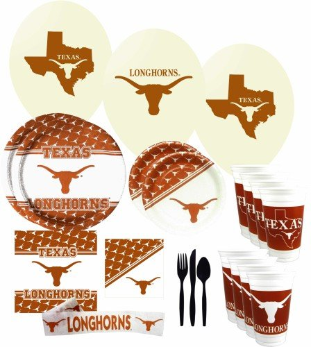 Texas Longhorns Party Supplies Pack
