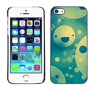 // PHONE CASE GIFT // Duro Estuche protector PC Cáscara Plástico Carcasa Funda Hard Protective Case for iPhone 5 / 5S / Feliz patrón de la cara /