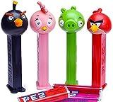 Angry Birds Toons Season Three Animated DVD Set Cartoon + Bonus Pez Collectible Tin candy Dispenser 4 character birds & Pigs