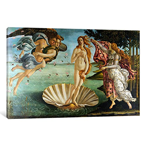 Birth Canvas - iCanvasART The Birth of Venus by Botticelli Sandro Canvas Art Print, 26 by 18-Inch