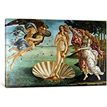"iCanvasART 1413-1PC3-40x26 Icanvas Birth of Venus Print by Sandro Botticelli, 26"" x 0.75"" x 40"""