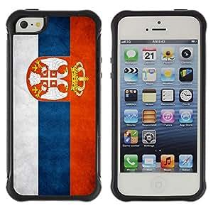 Suave TPU GEL Carcasa Funda Silicona Blando Estuche Caso de protección (para) Apple Iphone 5 / 5S / CECELL Phone case / / National Flag Nation Country Serbia /