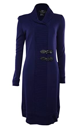 ea971c4bb9 Nina Leonard Women s Lennie - Shawl Faux Buckled Sweater Dress - Purple -